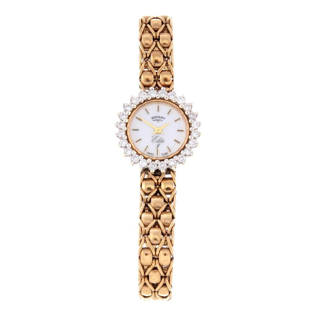 ROTARY - a lady's Elite bracelet watch. 9ct yellow gold