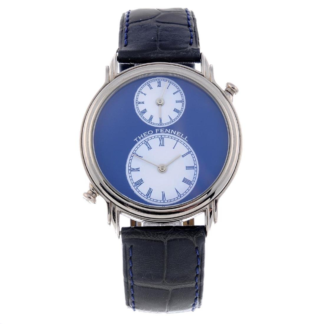 THEO FENNELL - a gentleman's Dual Time wrist watch.