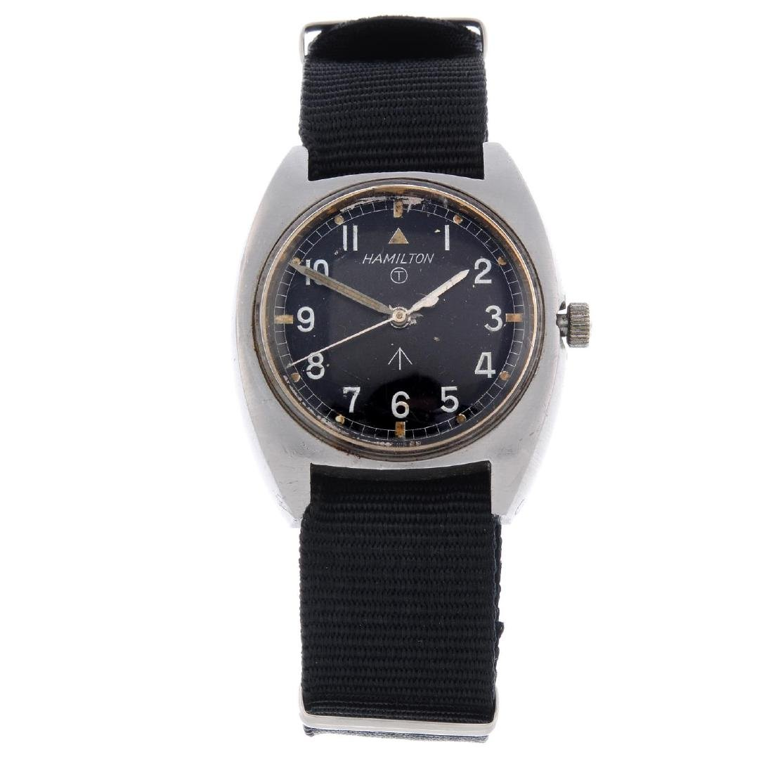 HAMILTON - a gentleman's military issue wrist watch.