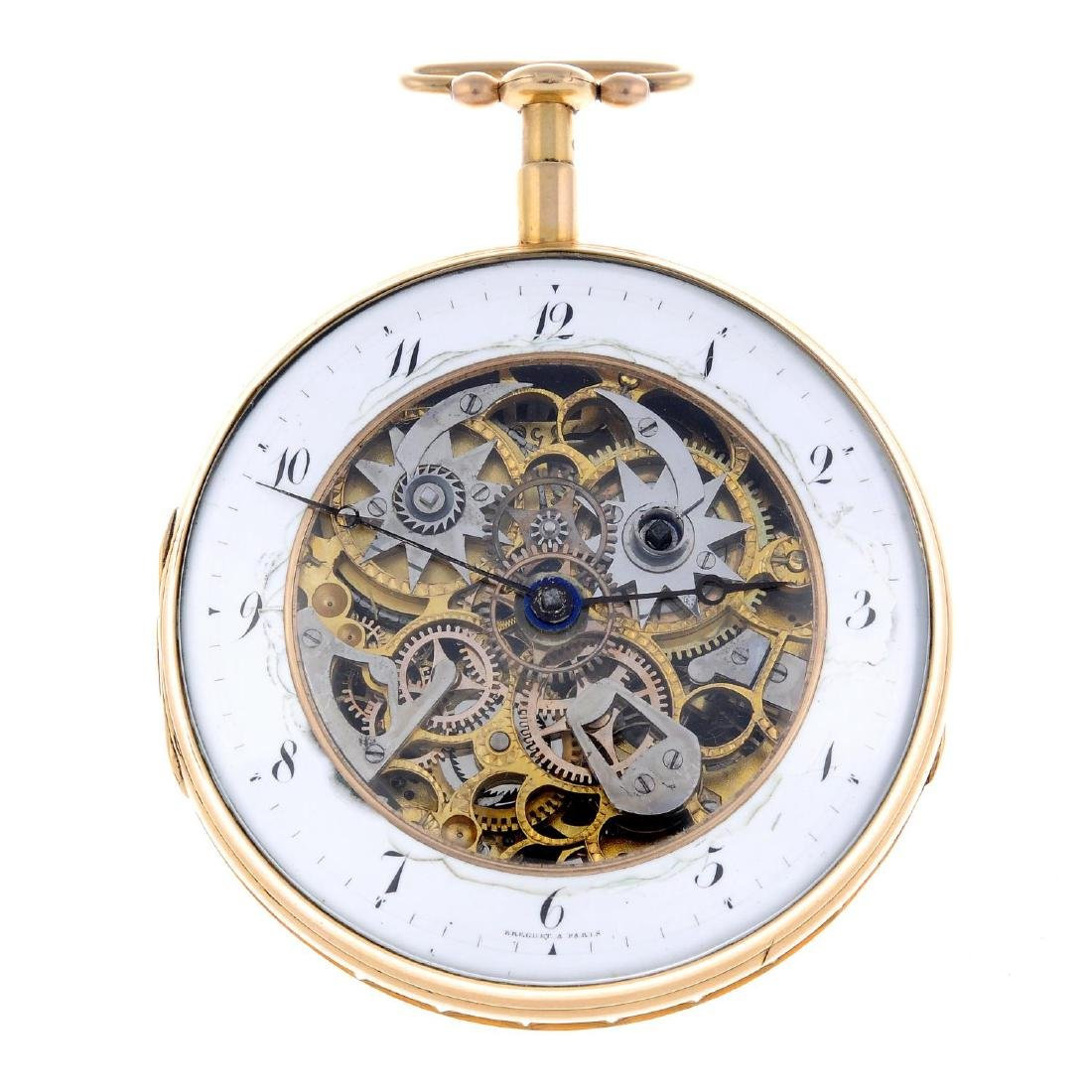 An open face quarter repeater pocket watch signed