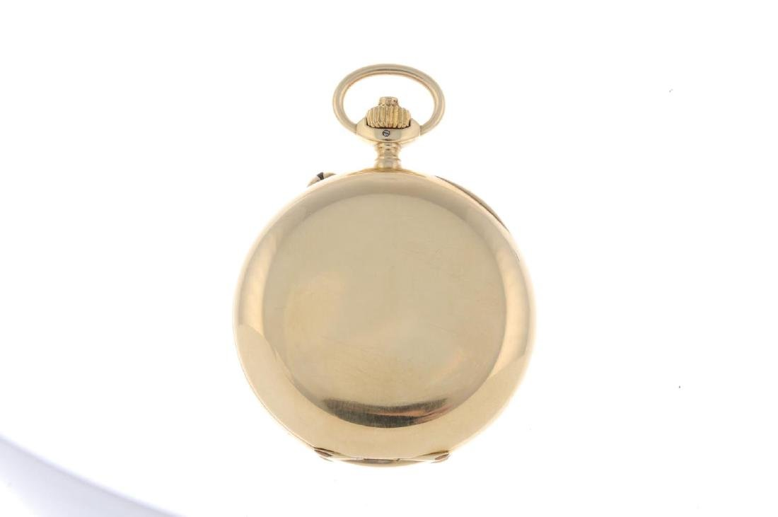 An open face chronograph pocket watch by Longines. - 2
