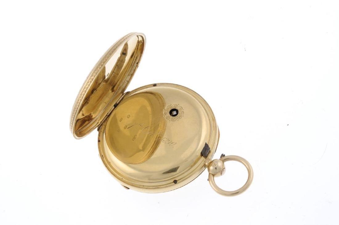 An open face pocket watch. 18ct yellow gold case, - 3
