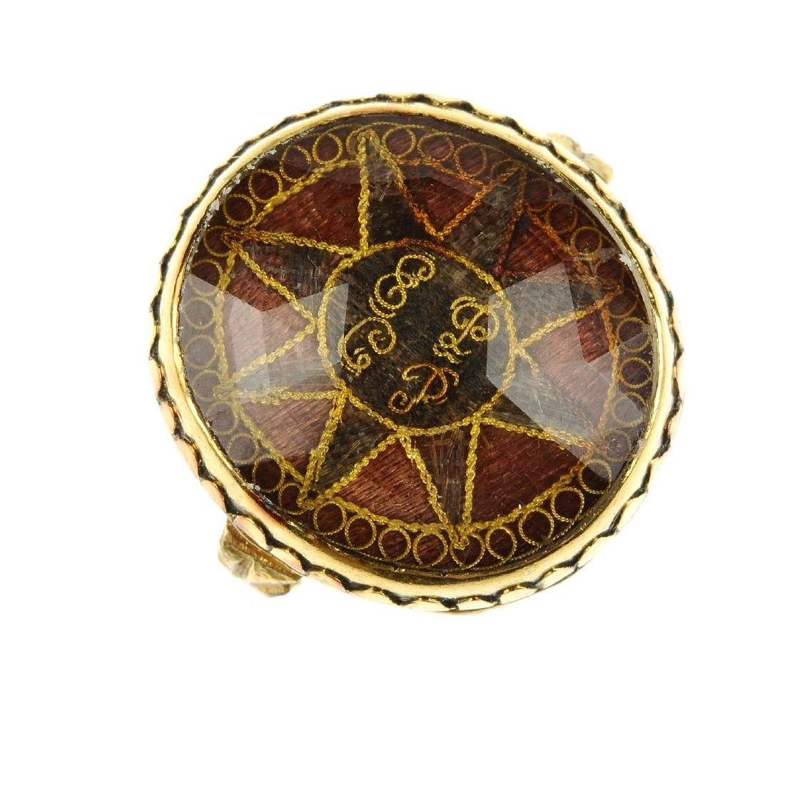 An early Georgian 'Stuart' rock crystal gold and hair