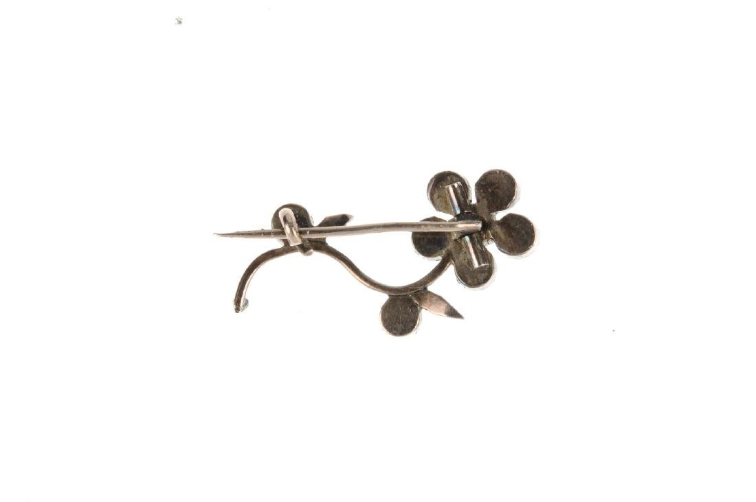 An early 19th century garnet brooch. The brooch in the - 2