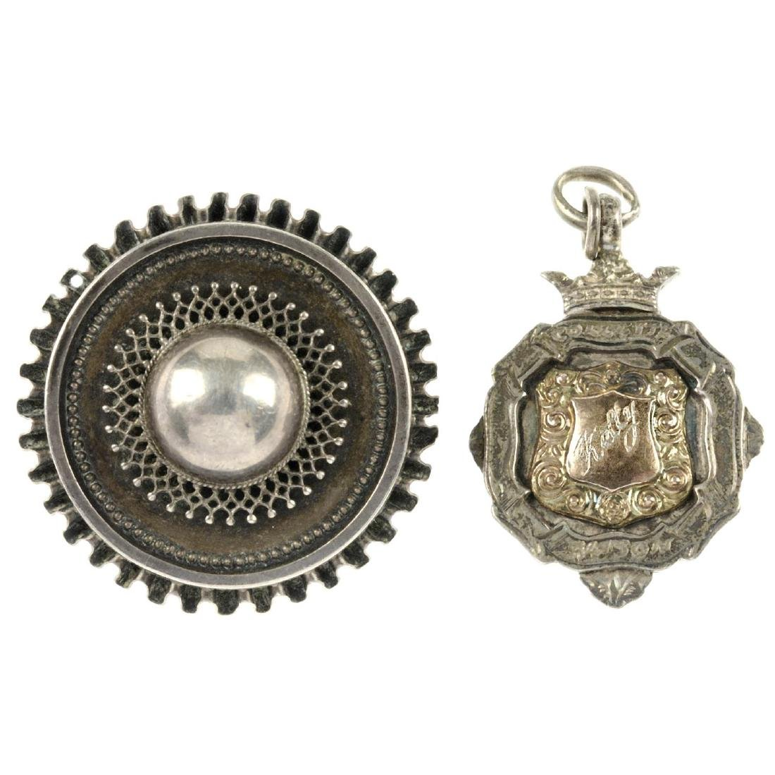 Seven items of late 19th to early 20th century silver