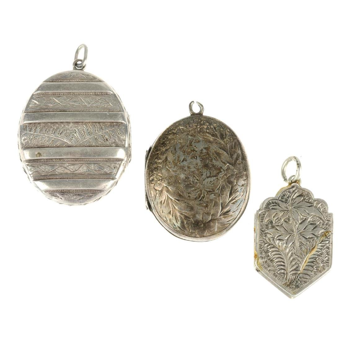 Three late 19th century lockets. The first an