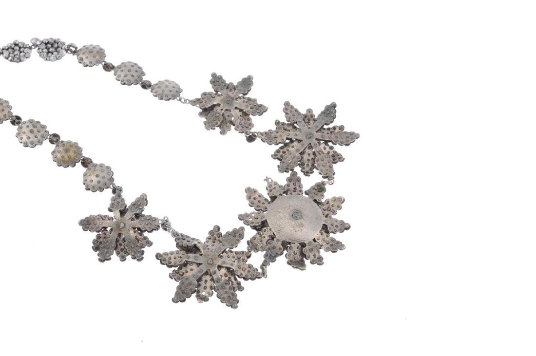A mid 19th century cut steel necklace. Designed as five - 2