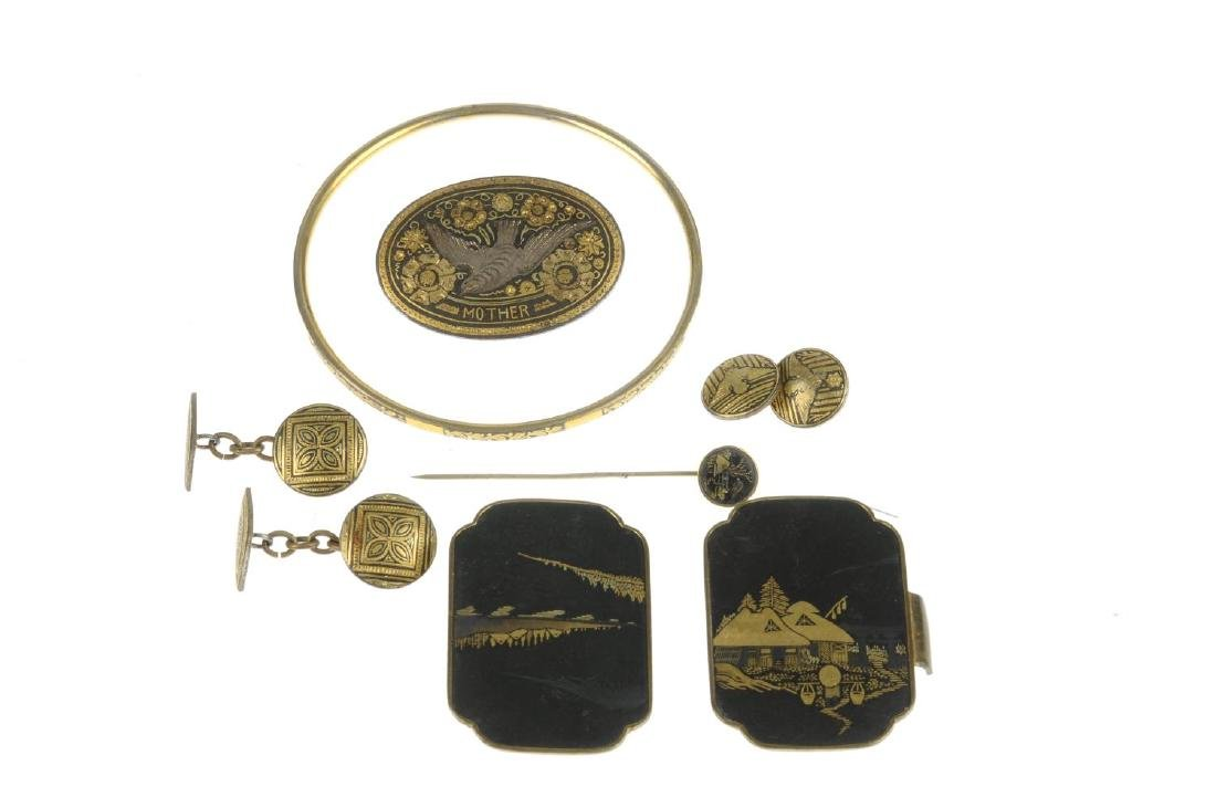A selection of Damascene jewellery. To include a - 2