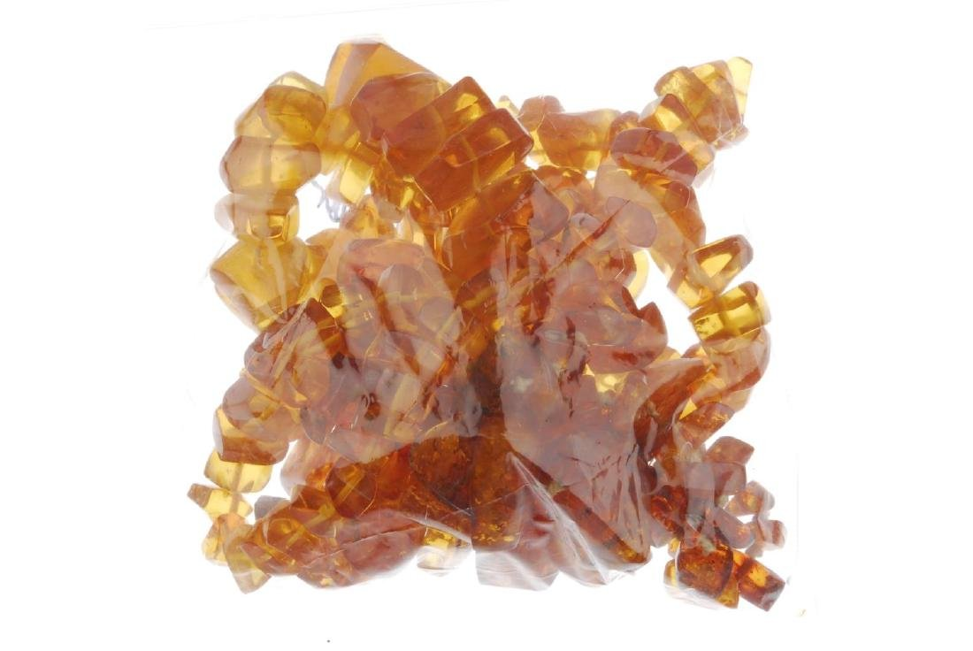 A selection of mainly amber jewellery. To include three - 4