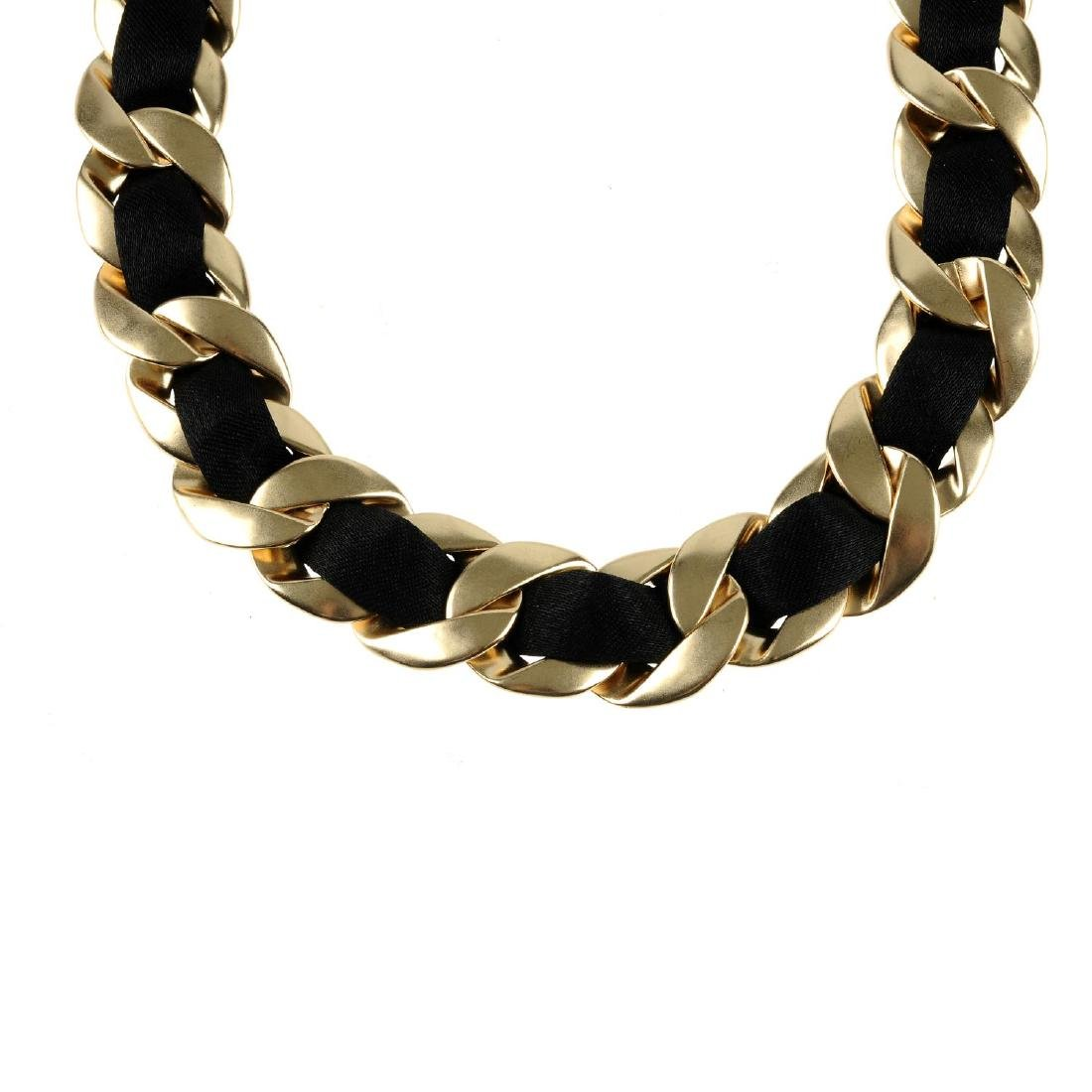 CHANEL - a necklace. Designed as a flat curb-link