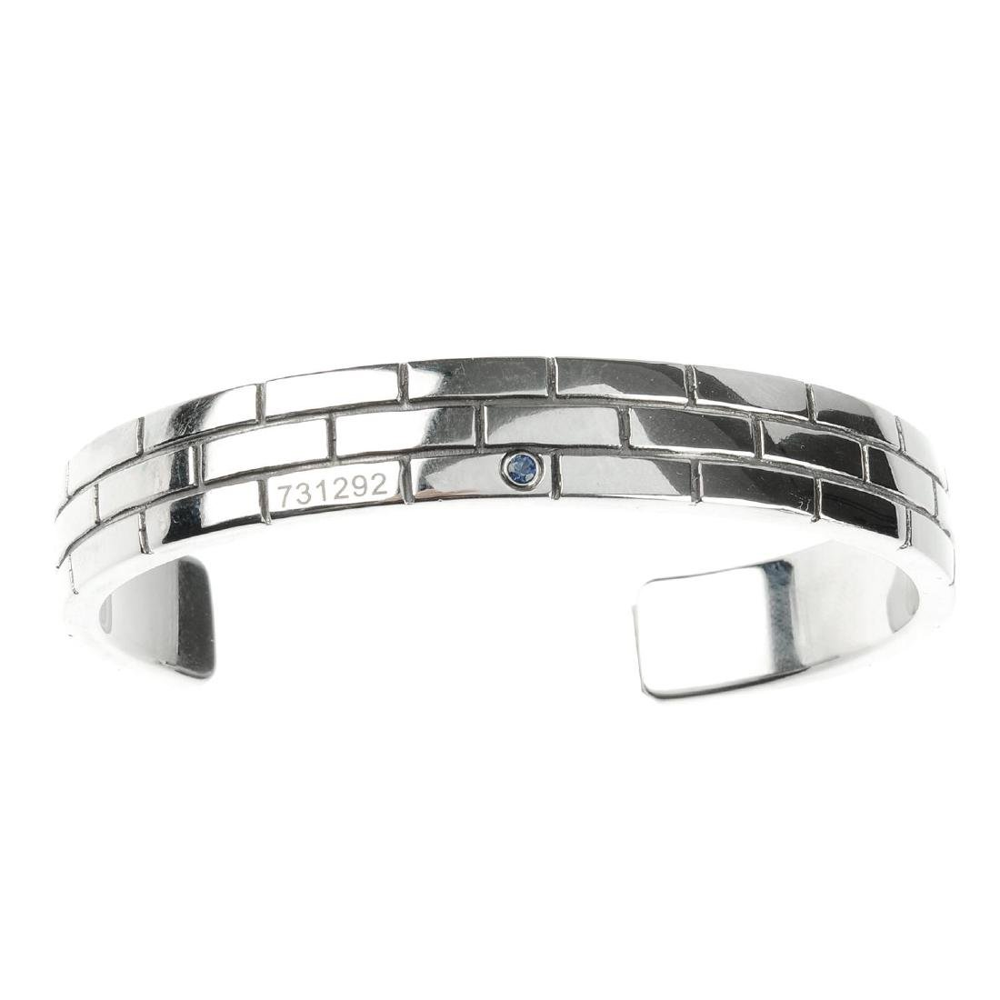 MONT BLANC - a steel bangle. Designed as a torque-style