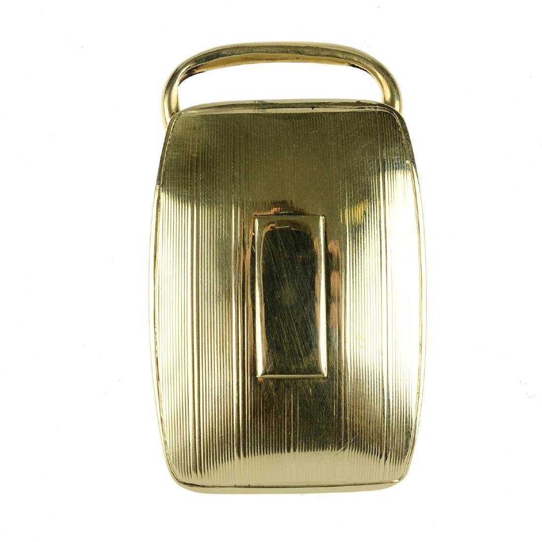 TIFFANY & CO. - a belt buckle. The rectangular buckle