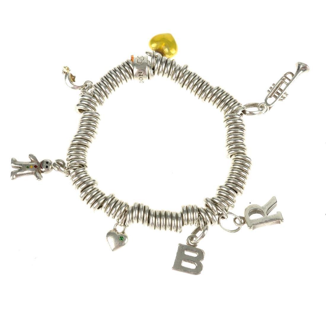 A Links of London charm bracelet and a Thomas Sabo
