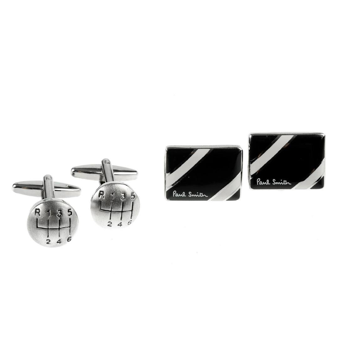 Seven pairs of cufflinks. To include one pair by Dinh