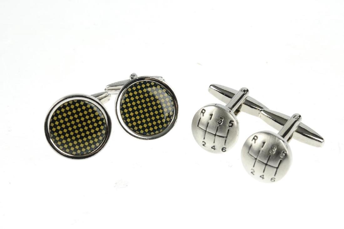 Seven pairs of cufflinks. To include one pair by Dinh - 2