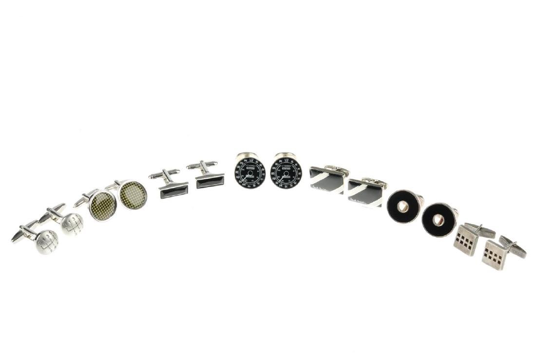 Seven pairs of cufflinks. To include one pair by Dinh - 3