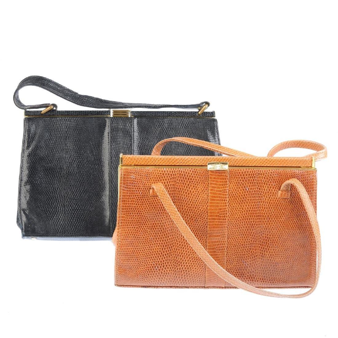 MAPPIN & WEBB - two vintage handbags. Both of a similar