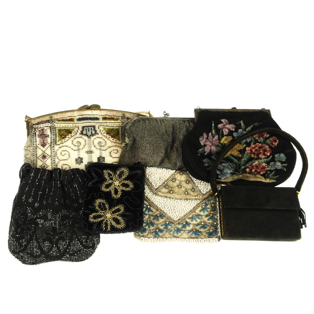 A selection of vintage handbags. To include an early