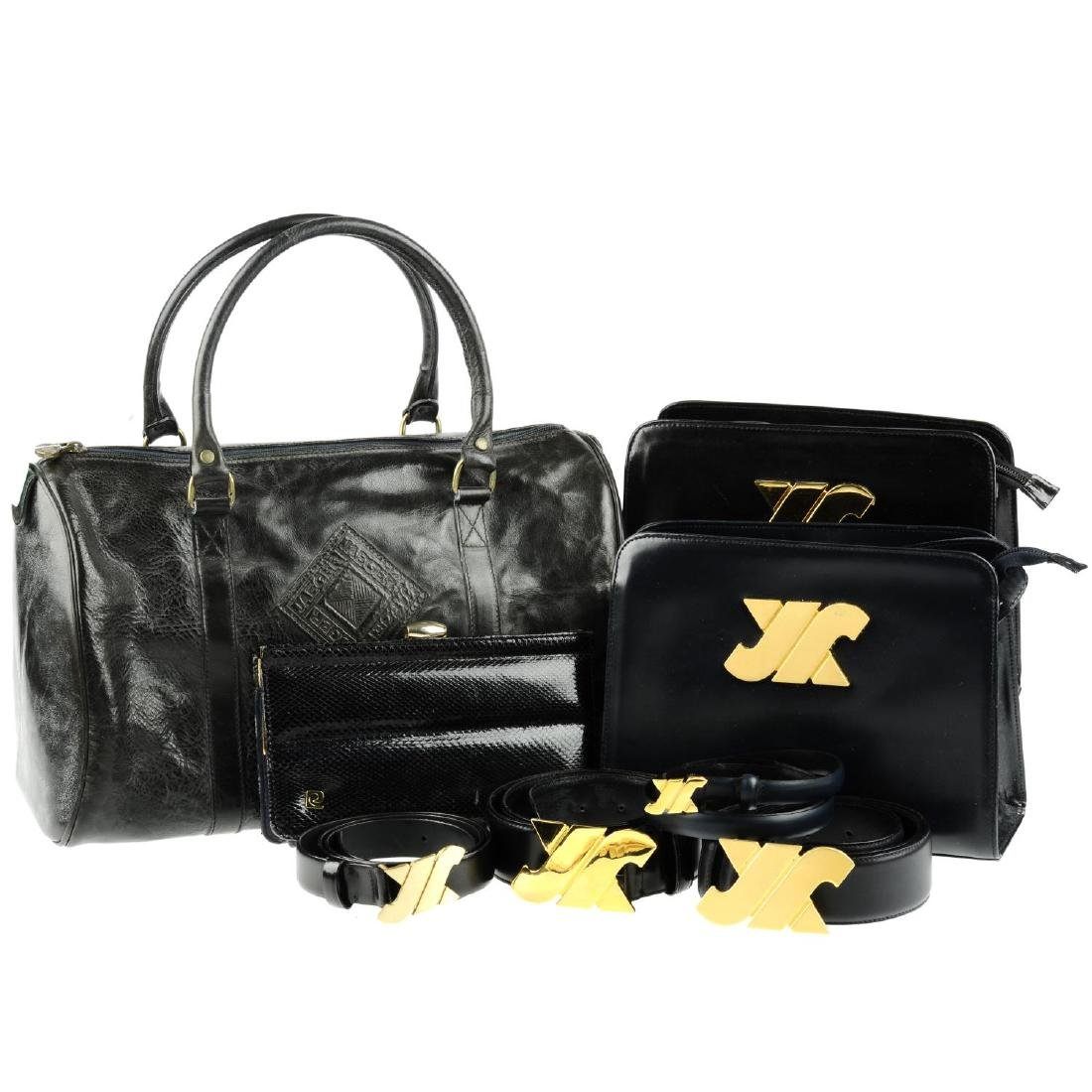 JAEGER - a selection of vintage handbags and belts. To