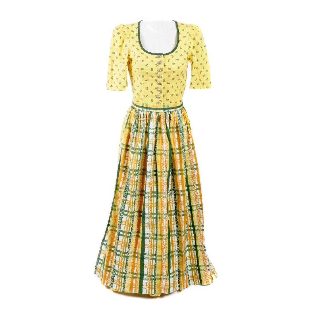 SPORTALM - two vintage dirndl dresses with aprons. Two