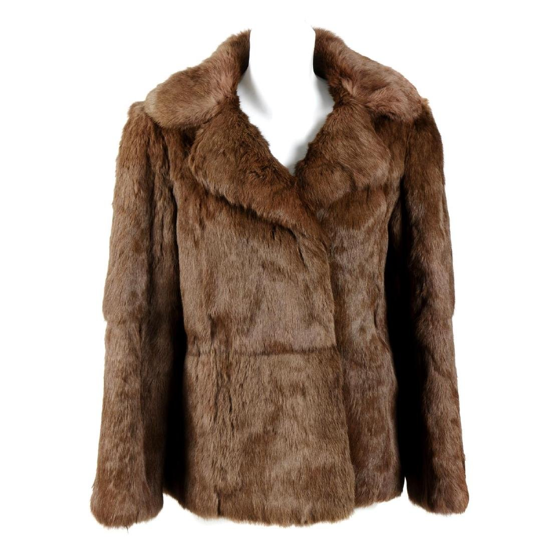 Two coney fur jackets and a coney fur coat. To include