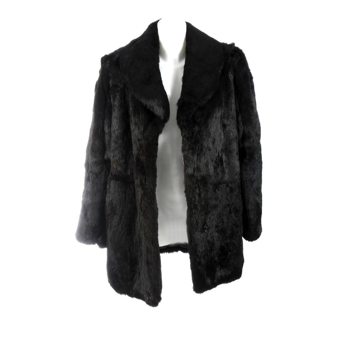Two coney fur jackets. To include a black coney fur