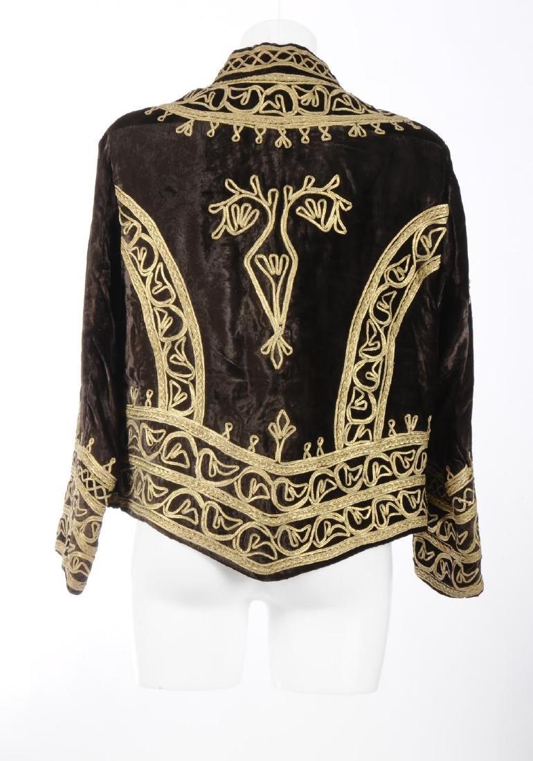 A brown velvet jacket. Designed with a brown velvet - 2