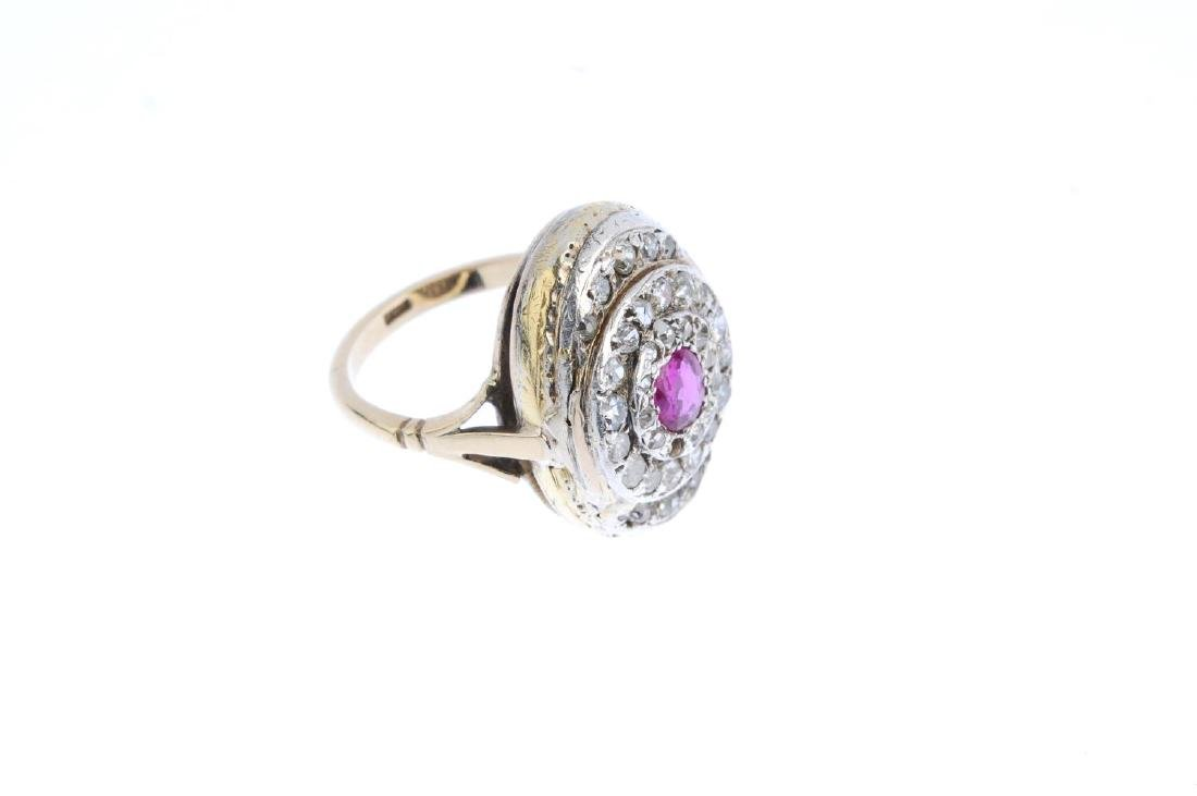An early 20th century ruby and diamond ring. The - 3