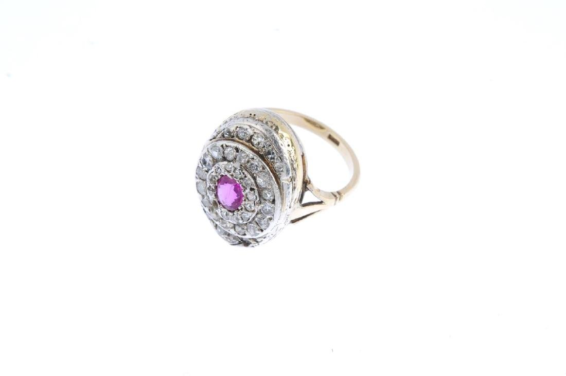 An early 20th century ruby and diamond ring. The - 4