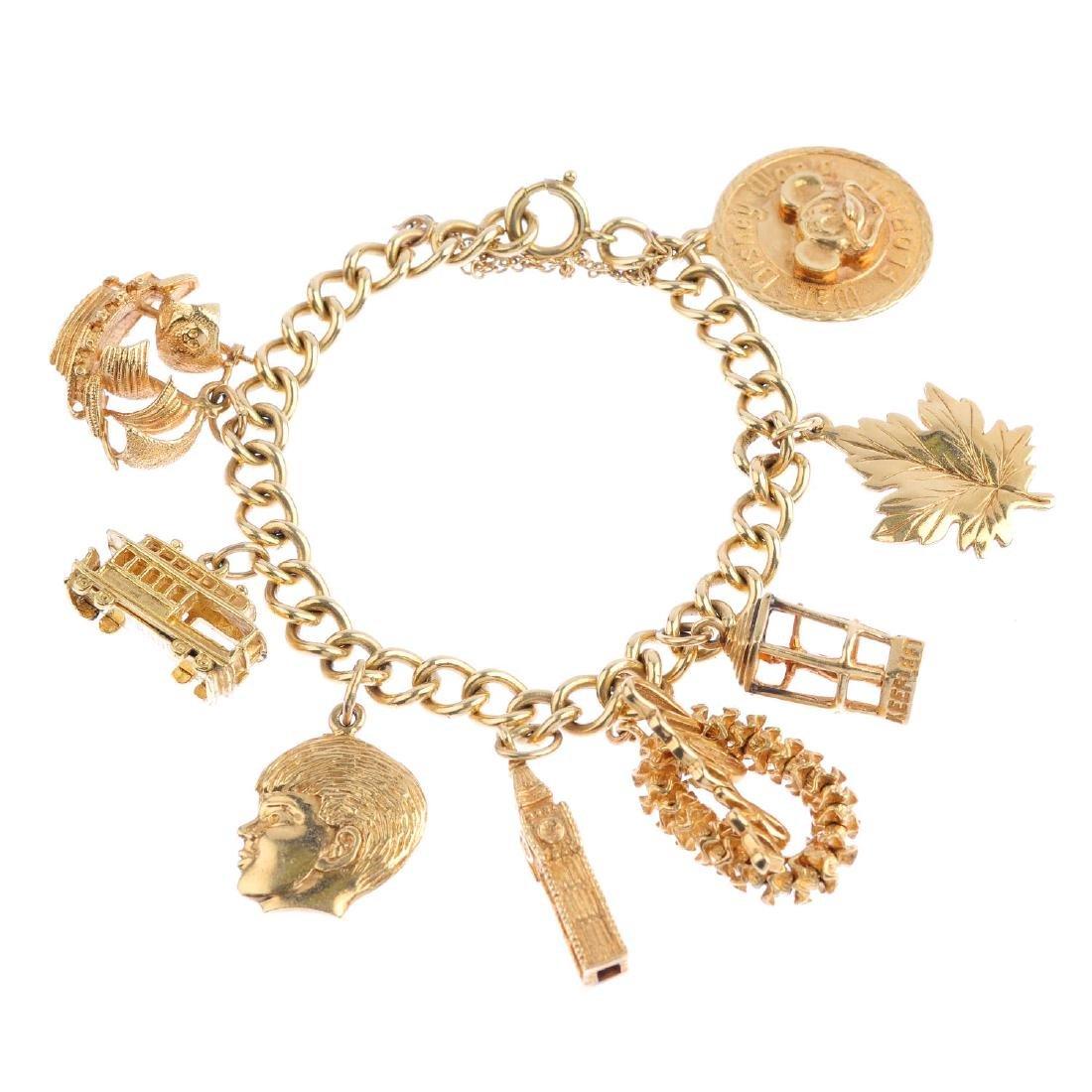 A charm bracelet. The curb-link bracelet, suspending