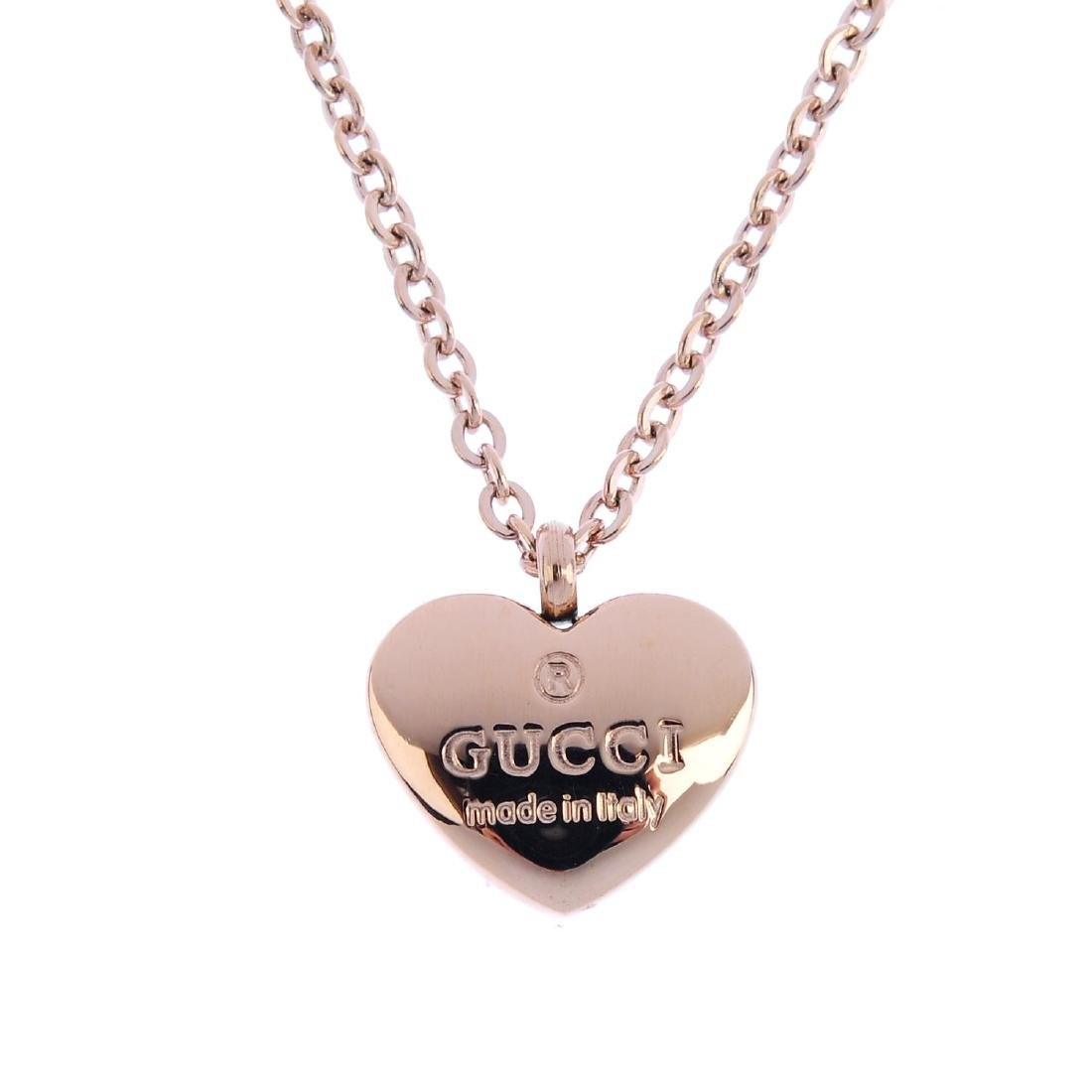 GUCCI - a heart pendant. The heart-shape pendant,