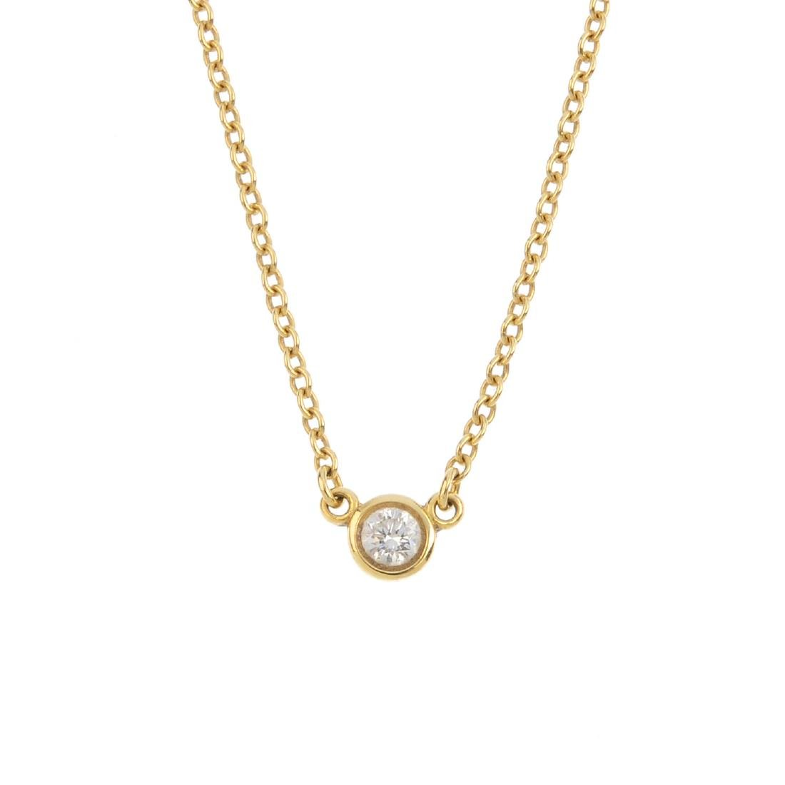 TIFFANY & CO. - a 'Diamond By The Yard' necklace. The