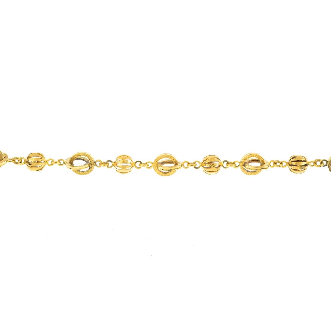 A fancy-link bracelet. Designed as a series of