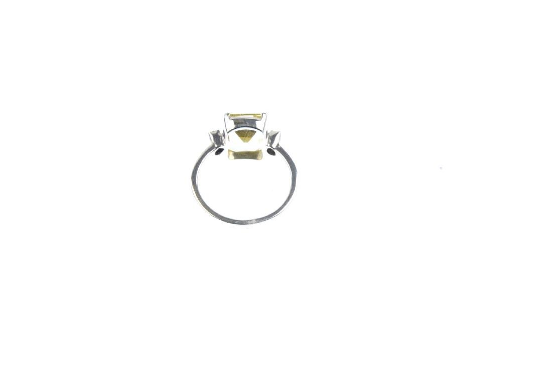 A heliodor and diamond single-stone ring. The - 3