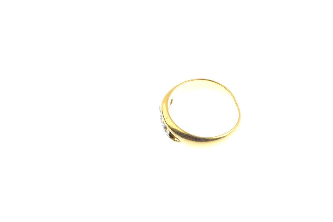 An Edwardian 18ct gold diamond five-stone ring. The - 2