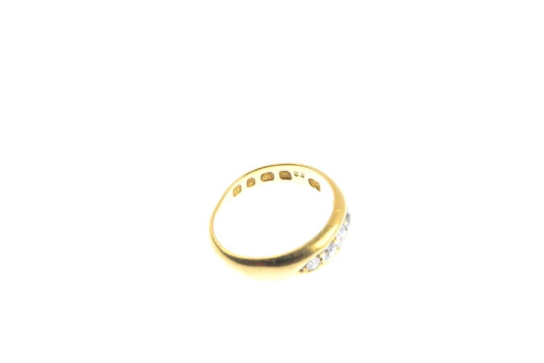 An Edwardian 18ct gold diamond five-stone ring. The - 4