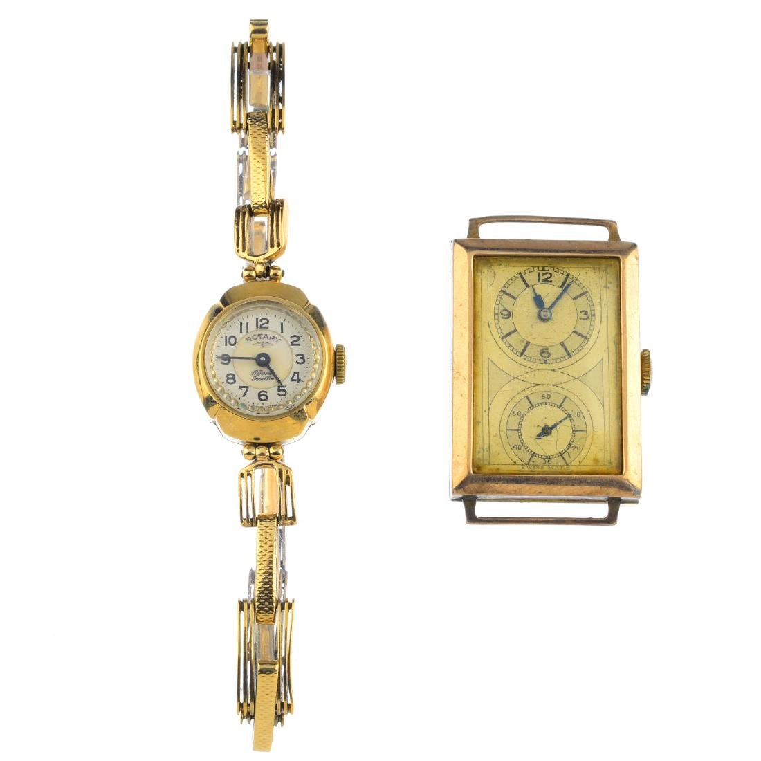 Two 9ct gold watches. To include a lady's Rotary