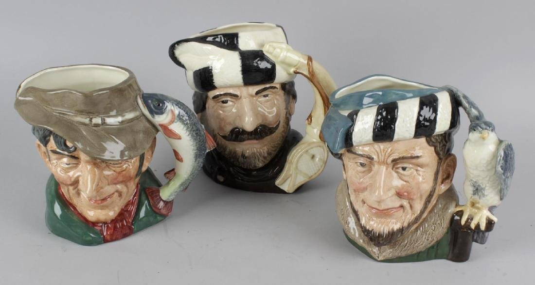 A group of eleven Royal Doulton character jugs.