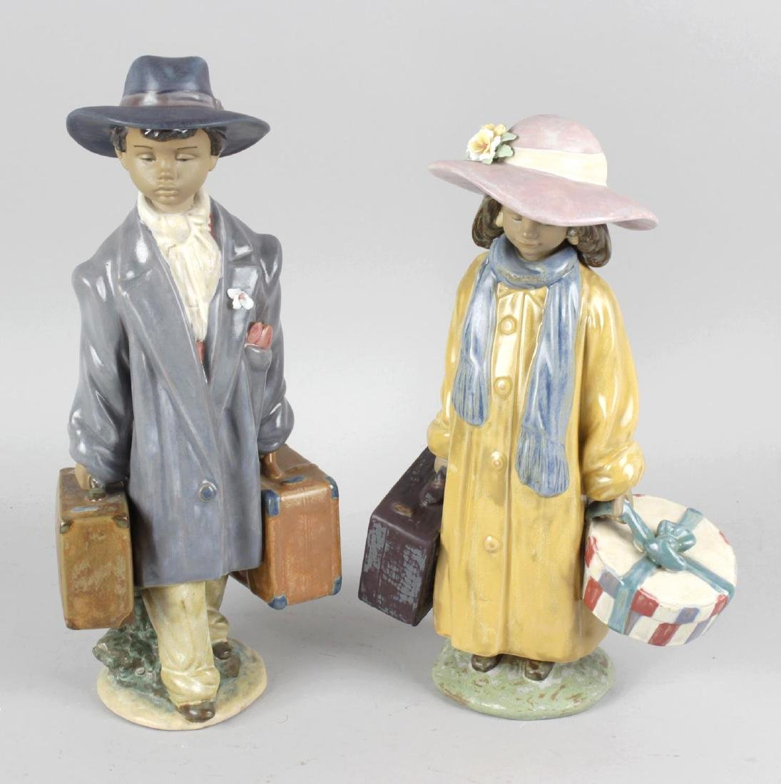A pair of Lladro pottery figurines, The Young