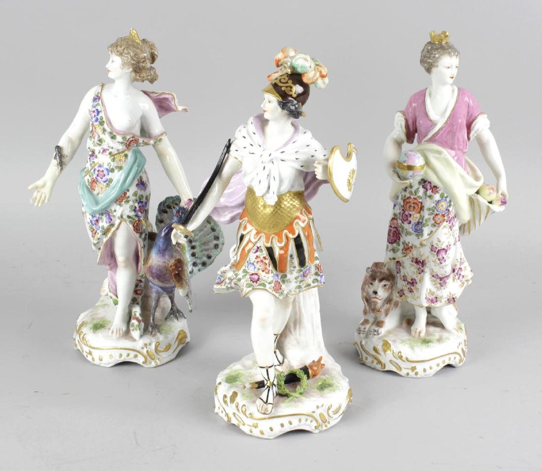 A group of four 19th century German figurines, each