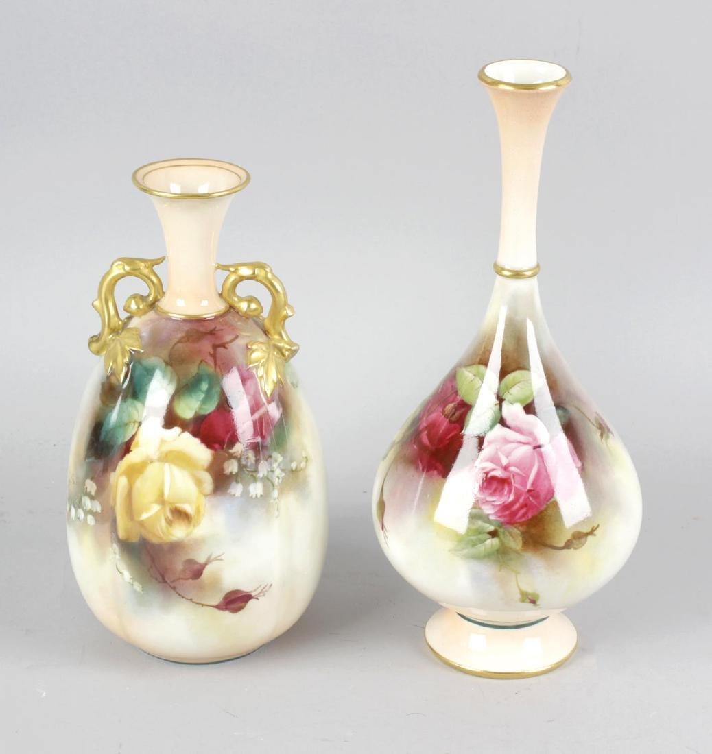 A Royal Worcester bone china vase, the ivory blush