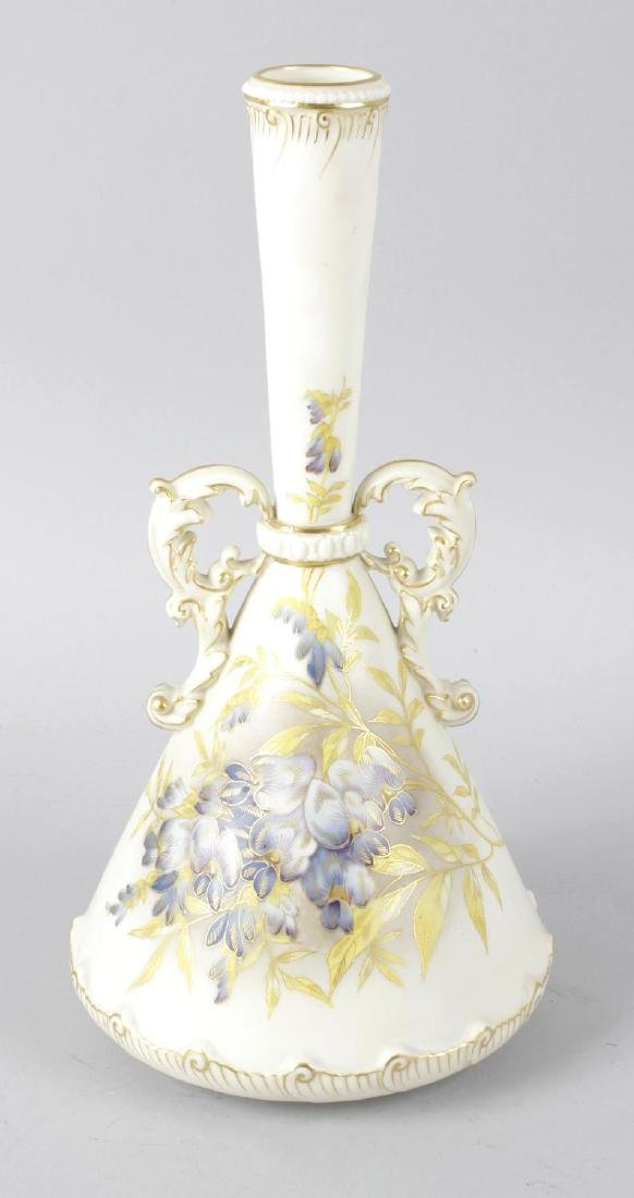 A Royal Worcester bone china twin handled conical
