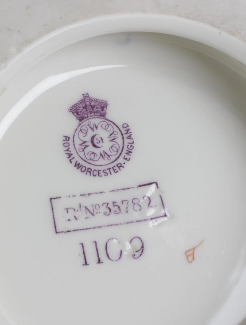 A Royal Worcester bone china twin handled globular - 2