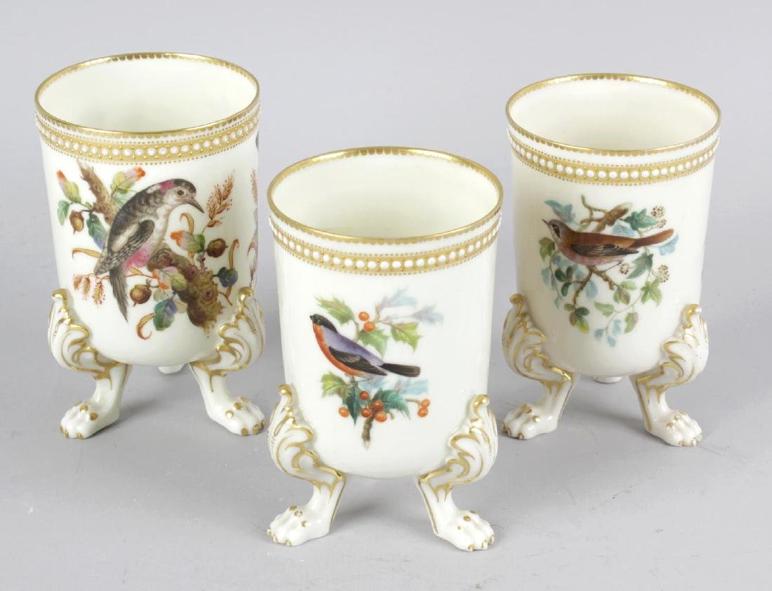 Three Royal Worcester bone china spill vases each of