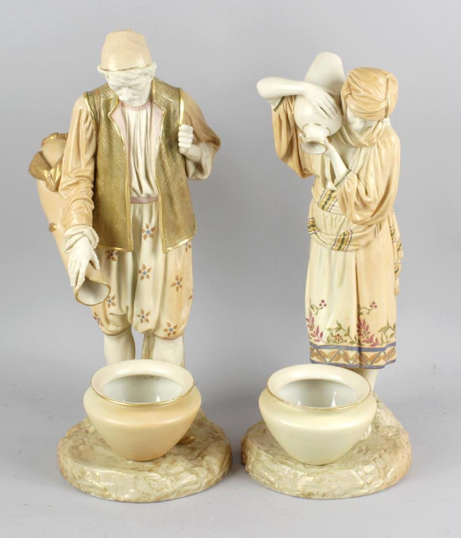 A pair of impressive large Royal Worcester James Hadley
