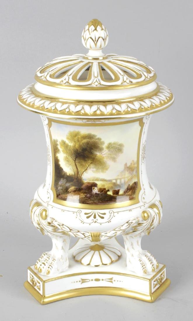 A Royal Worcester bone china pot pourri vase and cover