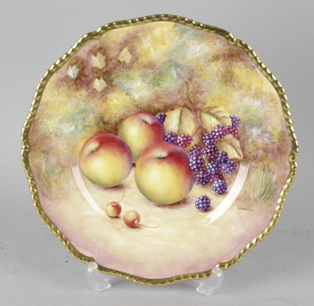 A Royal Worcester porcelain fruited-painted cabinet