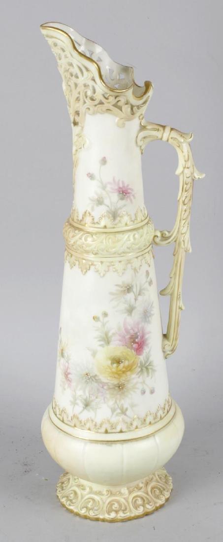 A large Grainger Worcester 'blush ivory' porcelain