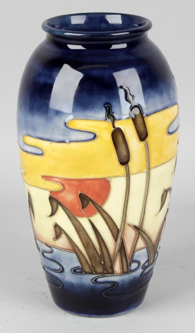 A Moorcroft pottery 'Irises and Bullrushes' pattern