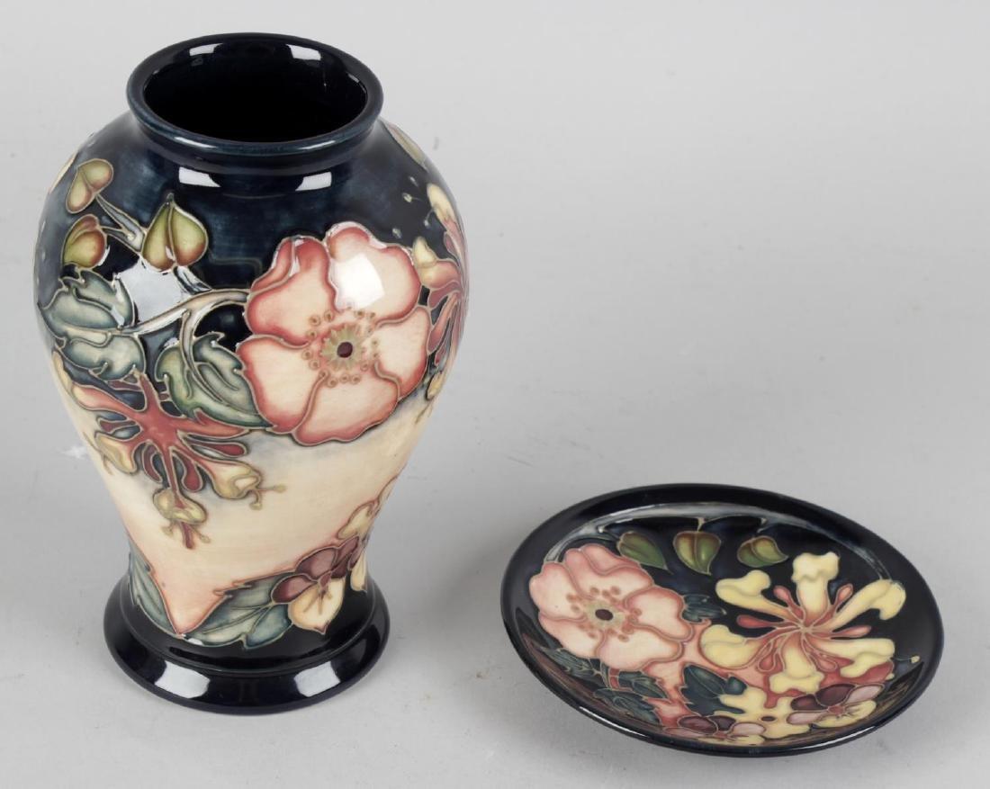A modern Moorcroft pottery 'Oberon Honeysuckle' pattern